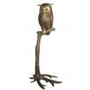 站立貓頭鷹(y14705 銅雕系列- 銅雕大型擺飾、銅雕動物 )