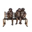 非禮勿視(y14706 銅雕系列- 銅雕大型擺飾、銅雕動物 )