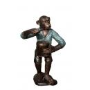 猴子樂隊-鼓手(y14707 銅雕系列- 銅雕大型擺飾、銅雕動物 )