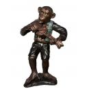 猴子樂隊-小提琴手(y14709 銅雕系列- 銅雕大型擺飾、銅雕動物 )