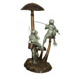 青蛙休憩(y14716 銅雕系列- 銅雕大型擺飾、銅雕動物 )