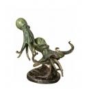章魚(y14717 銅雕系列- 銅雕大型擺飾、銅雕動物 )
