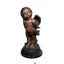 天使仰望(y14721 銅雕系列- 銅雕大型擺飾、銅雕人物 )