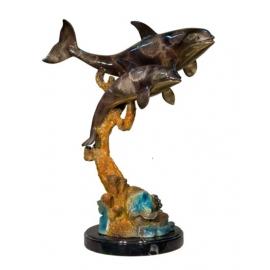 海豚(y14723 銅雕系列- 銅雕大型擺飾、銅雕動物 )