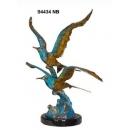 踏浪雙飛海鷗-y15336-銅雕 - 銅雕動物