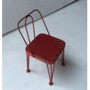 小椅子(紅色)- y15411- 鐵材藝術-擺飾