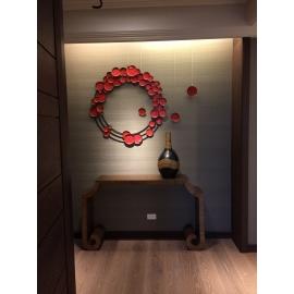 泡泡圓形壁飾 - y15469 - 鐵材藝術 - 鐵雕壁飾系列-(內含3顆單顆的圓型鐵材壁飾)另有不同顏色(紅. 綠 .紫 . 黑 .金. 黃 )