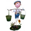鄉村田園娃娃花器 y13590 鐵材藝術-花架(花器系列)