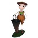 y13593 鐵材藝術- 傘桶(傘桶系列) - 鄉村田園娃娃傘桶(另有款式)--無庫存