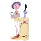 y13594 鐵材藝術- 傘桶(傘桶系列) - 鄉村田園娃娃傘桶(另有款式)--無庫存