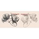 y13960 鐵材藝術-花架(花器系列)-三輪車花器(共黑.白2色)