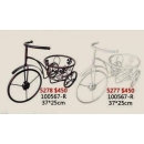 y13962 鐵材藝術-花架(花器系列)-三輪車花器(共古銅.白2色)