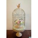 鐵材藝術-鐵材擺飾系列-鳥籠(含玫瑰盆) y14175