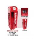 y14356 鐵材藝術 - 鐵材擺飾系列 - 鐘錶電話亭 (另有款式)