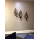 樹葉壁燭-3件一組-y15218-鐵雕壁飾系列-鐵材藝術