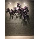 藕色蘭花枝壁飾-(內含3多分開的花朵)另有不同顏色-y15511 - 鐵材藝術 - 鐵雕壁飾系列