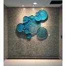 荷葉壁飾-翠綠色(5入一組) y15518 鐵材藝術 - 鐵雕壁飾系列