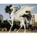 y15789 鐵材藝術-鐵材擺飾系列-鐵藝飛天龍馬( 不含南瓜馬車的價格)