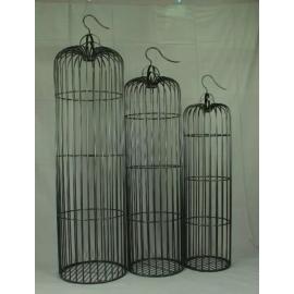 y15791鐵材藝術-鐵材擺飾系列-鐵藝鳥籠( 套3 )