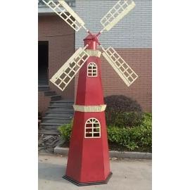 y15792鐵材藝術-鐵材擺飾系列-鐵藝荷蘭風車