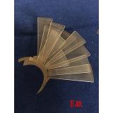 y15807 鐵材藝術-鐵材擺飾系列-鐵藝月牙造型璧飾(五件一組)