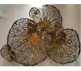 y15855 鐵材藝術 - 鐵雕壁飾系列 -荷葉壁飾(古金色)*
