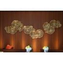 y15857 鐵材藝術 - 鐵雕壁飾系列 -荷葉壁飾3件組