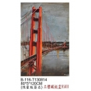 y15894-鐵材藝術  鐵雕壁飾系列-跨海大橋立體壁飾(限量簽名版)
