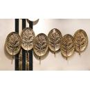 圓形葉子鐵藝壁飾- y16080 鐵材藝術 - 鐵雕壁飾系列 / 立體壁飾-花、植物系列