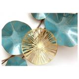 嵐藍荷葉鐵藝壁飾- y16082 鐵材藝術 - 鐵雕壁飾系列 / 立體壁飾-花、植物系列