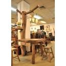 y13355 實木傢俱-創意造型風化傢俱-樟木樹桌子(已售出)