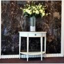 y13499 傢俱系列-洗白半圓玄關桌