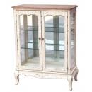 y13770 傢俱系列-復古白色玻璃門餐櫃