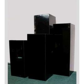 y14278 羅馬柱花台展示台-大理石展示台(高:80cm) 77W-404080B(蒙古黑)  另有其尺寸高度