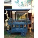 仿舊餐車(藍色)y15177傢俱系列-實木家具