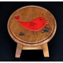 圓凳紅色小鳥(BIRD)-y15187傢俱系列-實木家具
