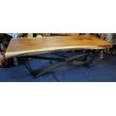 猴木實木鋼腳桌-y15294傢俱系列 實木家具