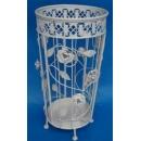 鍛鐵傘桶 白色 (y15376 傢俱系列-垃圾桶.傘桶.洗衣籃.衣帽架)
