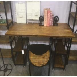 y15798傢俱系列 - 原木鍛鐵家俱 -書桌