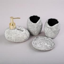 y16201 洗手間衛浴.室內拖鞋- 衛浴用具 - 拉絲球衛浴組(四入一組)