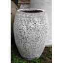 落灰陶花器 y15036-花器系列-落灰陶 沙釉高弧形包口甕-1號