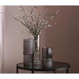 竹節花瓶‧上部竖楞‧下部平光(灰色‧大)-y16329 立體雕塑.擺飾 立體擺飾系列 - 器皿.花器系列 / 擺件插花