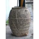 落灰陶花器 y15040 -花器系列-落灰陶 沙釉圓弧形橫紋
