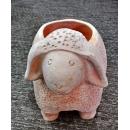 y13869-花器系列-古樸陶瓷  -素燒綿羊花盆