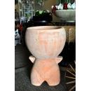 y13871-花器系列-古樸陶瓷  素燒圓頭娃娃-大