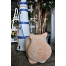 y13872 -花器系列-古樸陶瓷  素燒河馬盆-中