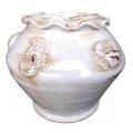 y13945 花器系列 -古樸陶瓷 -白色陶花器