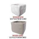 y13947 花器系列 -古樸陶瓷 -方形陶瓷花器(白) 另有卡其色