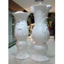 富貴瓶 (y14964 花器系列 - 落地花器-亮白)一對