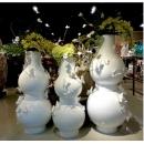 蝴蝶飛舞落地瓶 (y14965 花器系列 - 落地花器-亮白)3入一組